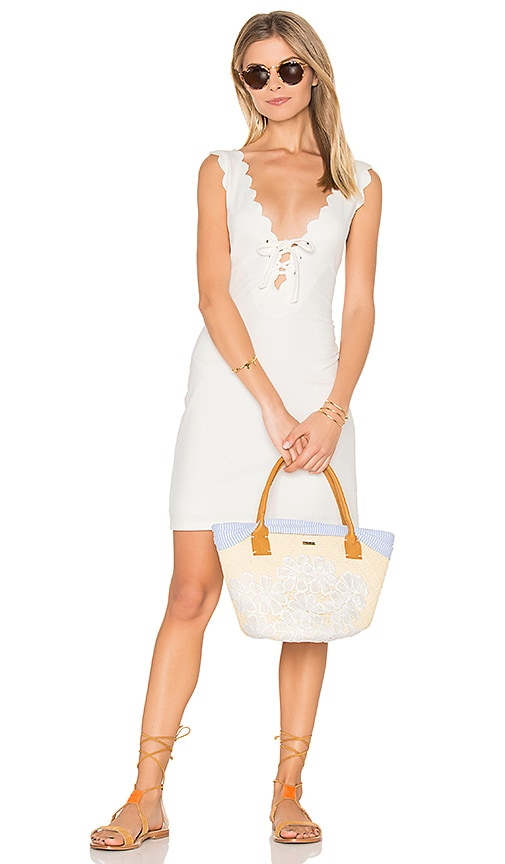 Marysia Swim Amagansett Tie Dress in White