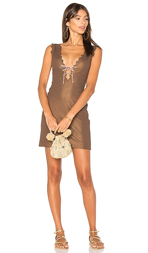 Marysia Swim Amagansett Tie Dress in Brown