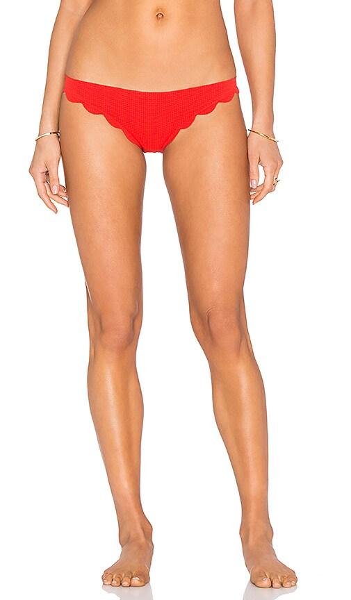 Marysia Swim Broadway Bikini Bottom in Poppy Red