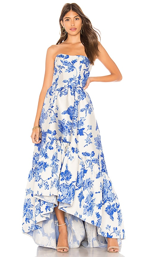 Mestiza New York Georgiana High Low Cocktail Dress in Porcelain Blue ...