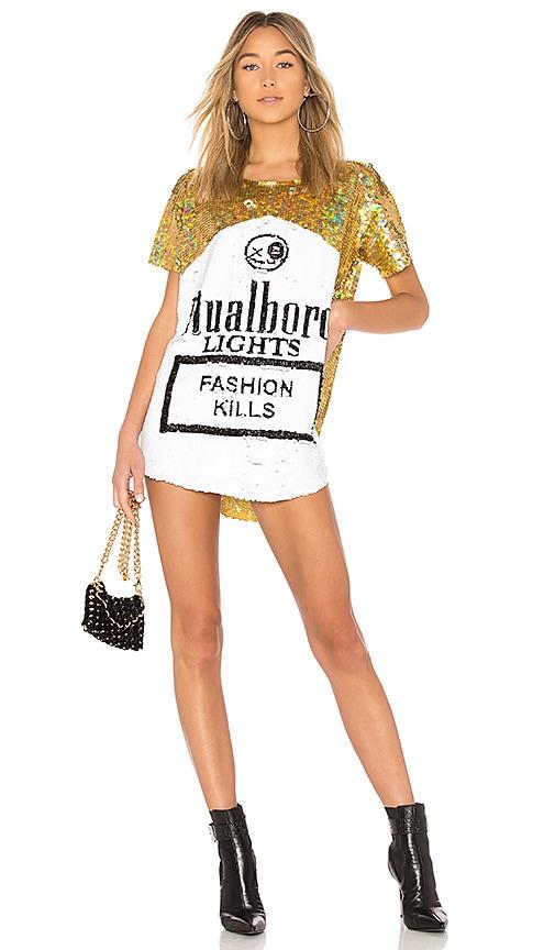 MuaMuaDolls Mualboro Dress in Metallic Gold