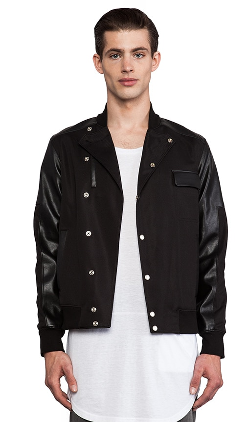 Asymmetric Coolever Varsity Jacket