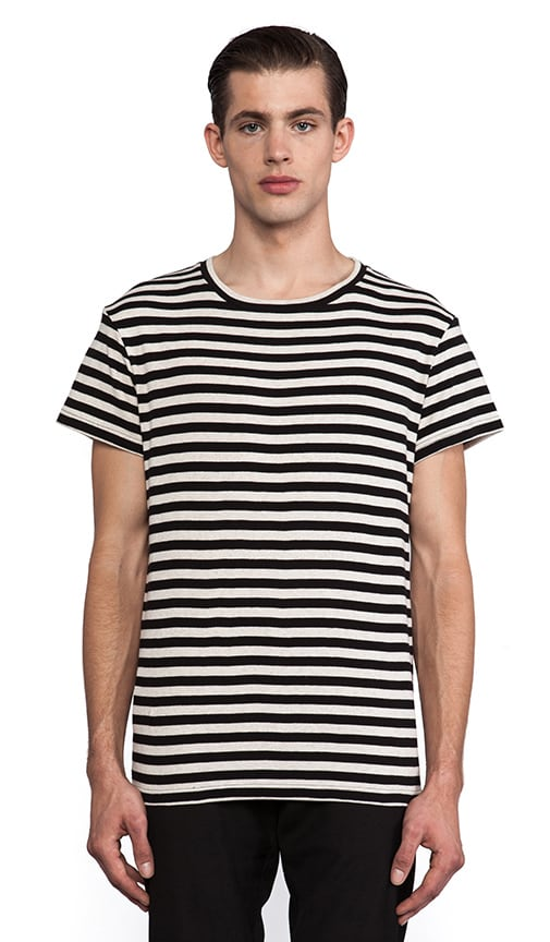 Striped Back Split Tee