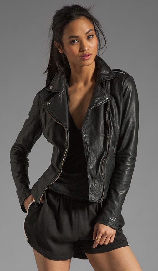 Tehmi Leather Biker Jacket