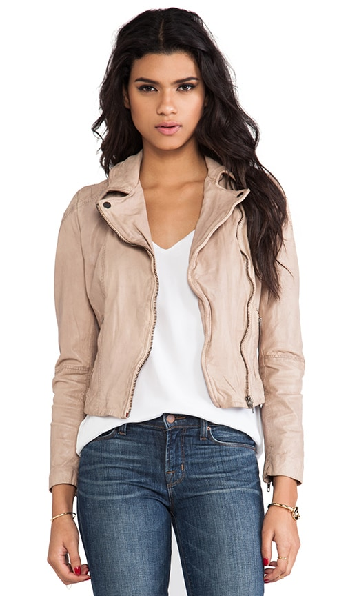 Quilted Shoulder Moto Jacket