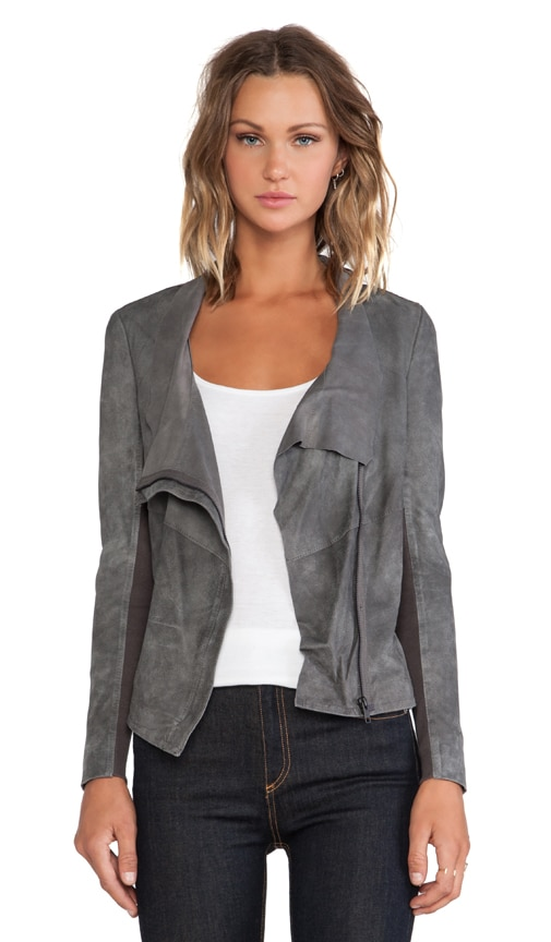 Geneva Drape Leather Jacket