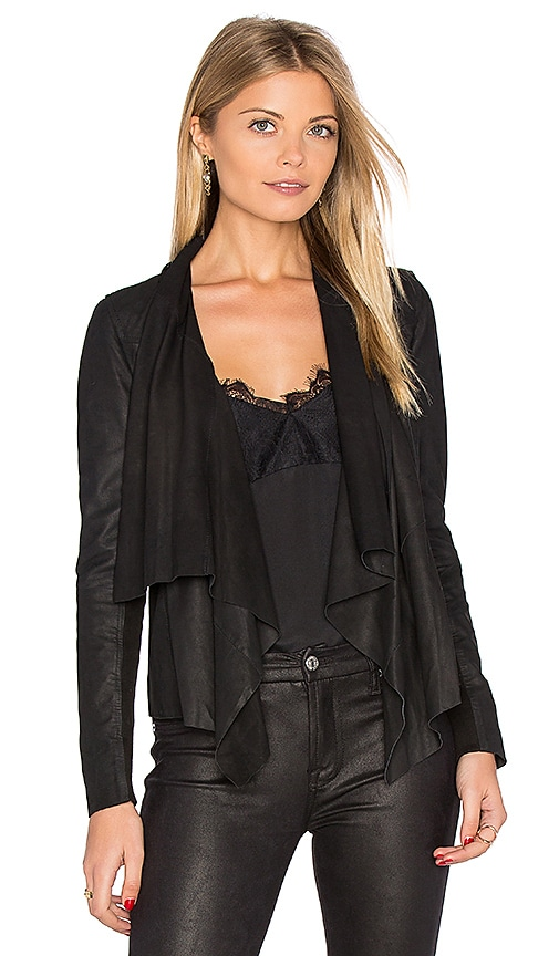 Muubaa Kirbie Drape Front Jacket in Black