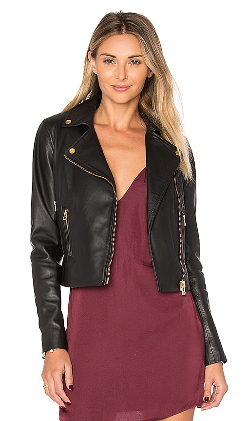 Muubaa Harrier Biker Jacket in Black