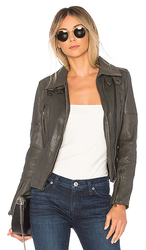 Muubaa Nobel Biker Jacket in Gray