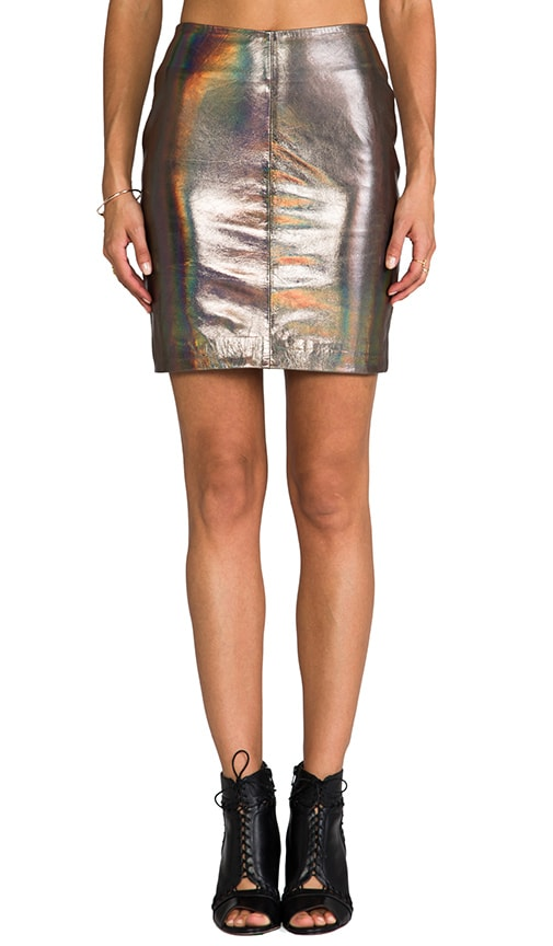x REVOLVE Kowie Leather Skirt