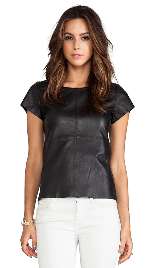 Numidia Leather Top