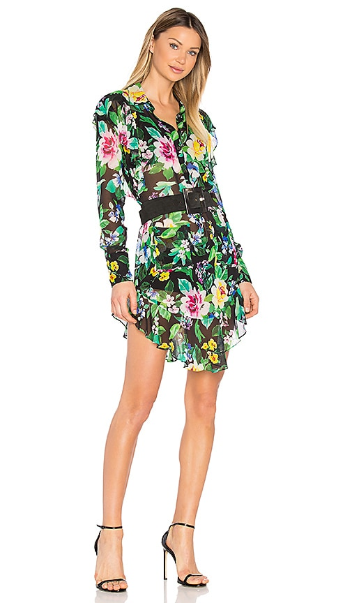 Marissa Webb Shelton Print Dress in Black