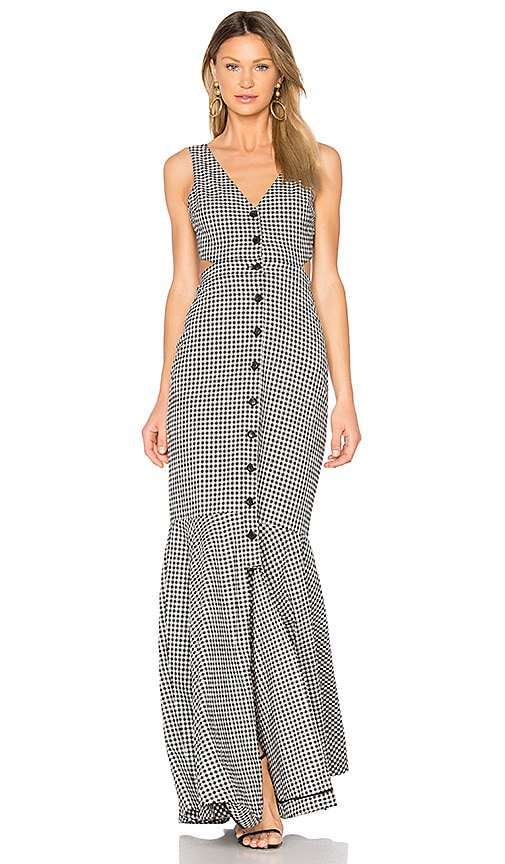 Marissa Webb Judith Gingham Maxi Dress in Black