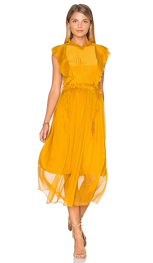 Marissa Webb Florence Silk Dress in Yellow