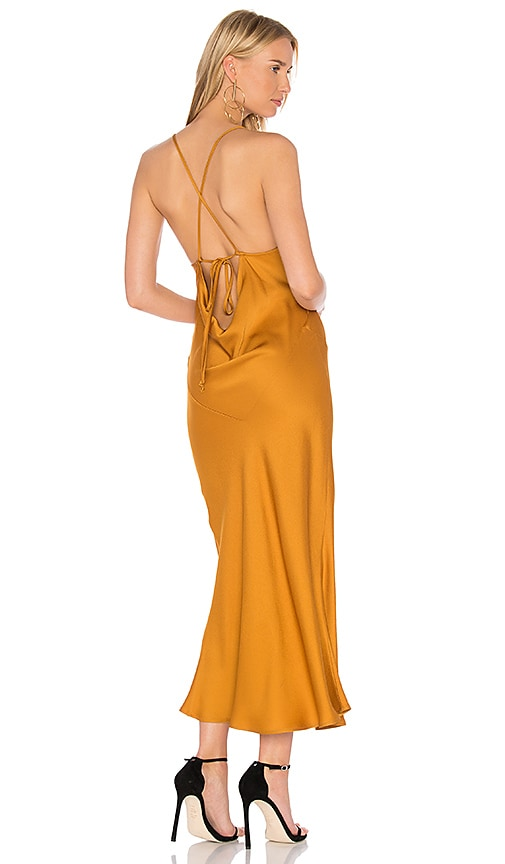 Marissa Webb Trudy Slip Dress in Mustard