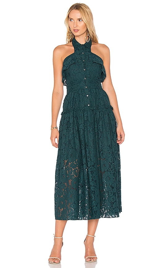 Marissa Webb Elias Bloom Lace Dress in Blue