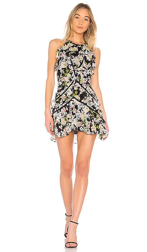Marissa Webb Andrea Silk Print Dress in Black