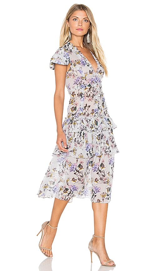 Marissa Webb Lana Print Dress in Gray