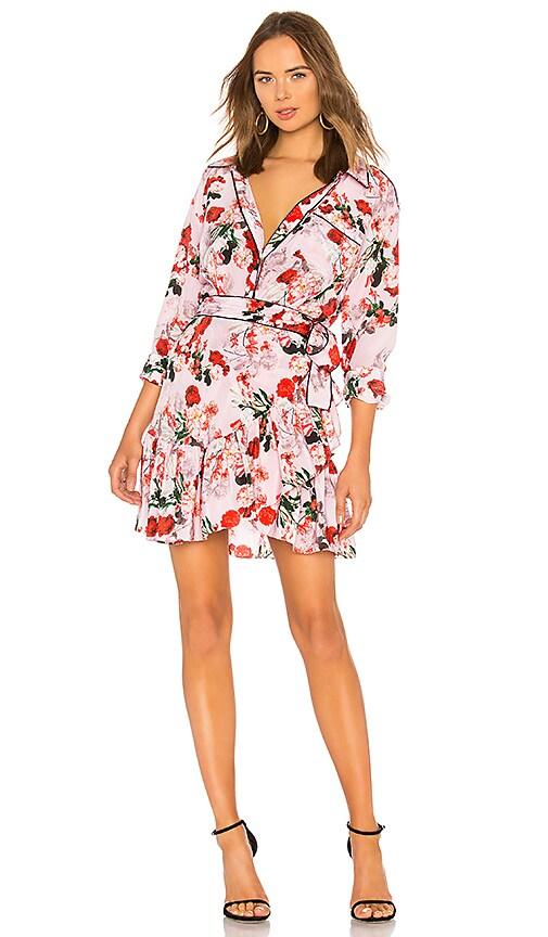 d222580ade3a0 Marissa Webb Scarlet Silk Print Mini Dress in Rouge Bouquet | REVOLVE