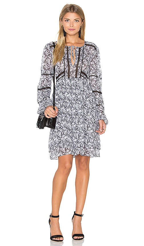 Marissa Webb Bella Print Mini Dress in Gray