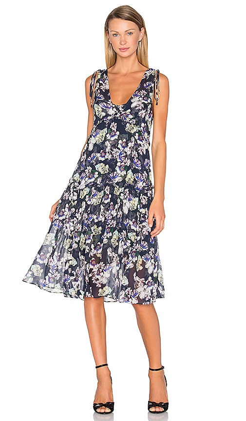 Marissa Webb Pax Print Dress in Navy