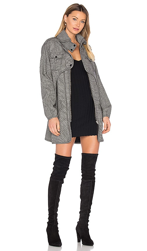 Marissa Webb Nicholas Plaid Coat in Black & White