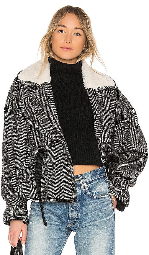 Marissa Webb Annalise Herringbone Boucle Jacket in Black