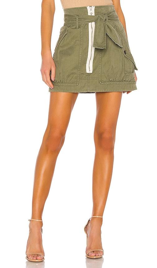 Hannah Herringbone Canvas Skirt