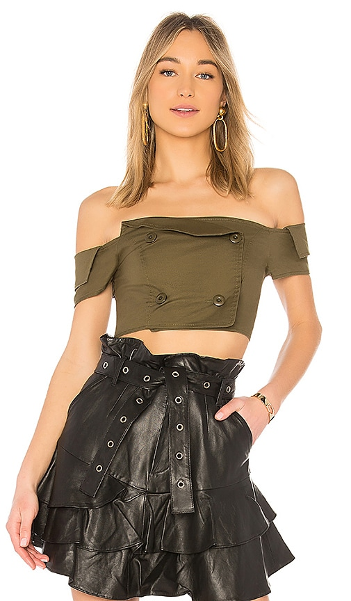 Marissa Webb Chantel Top in Army