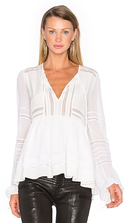Marissa Webb Bella Silk Blouse in White