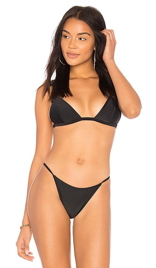 Midsommar Swim Melrose Bikini Top in Black