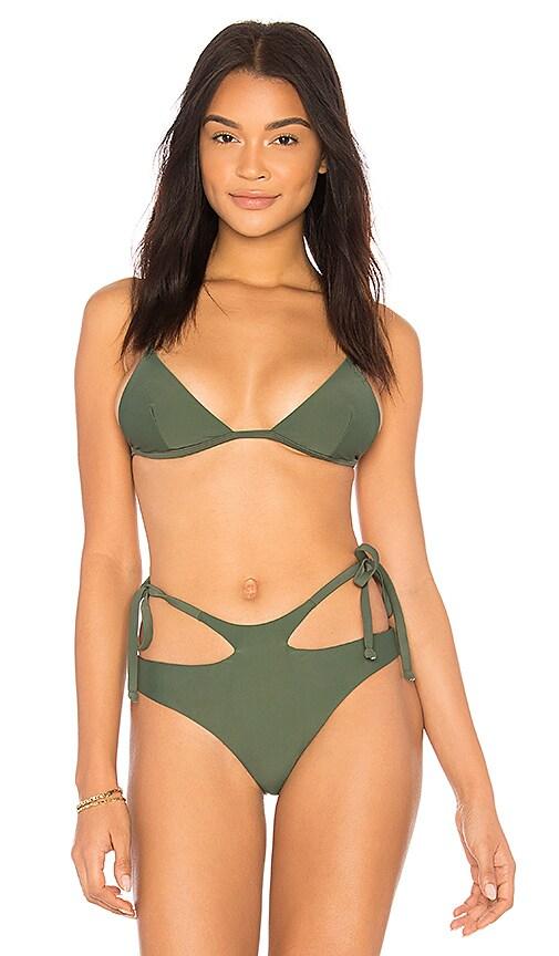 Midsommar Swim Mercer Bikini Top in Green
