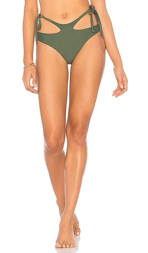 Midsommar Swim Astor Bikini Bottom in Green