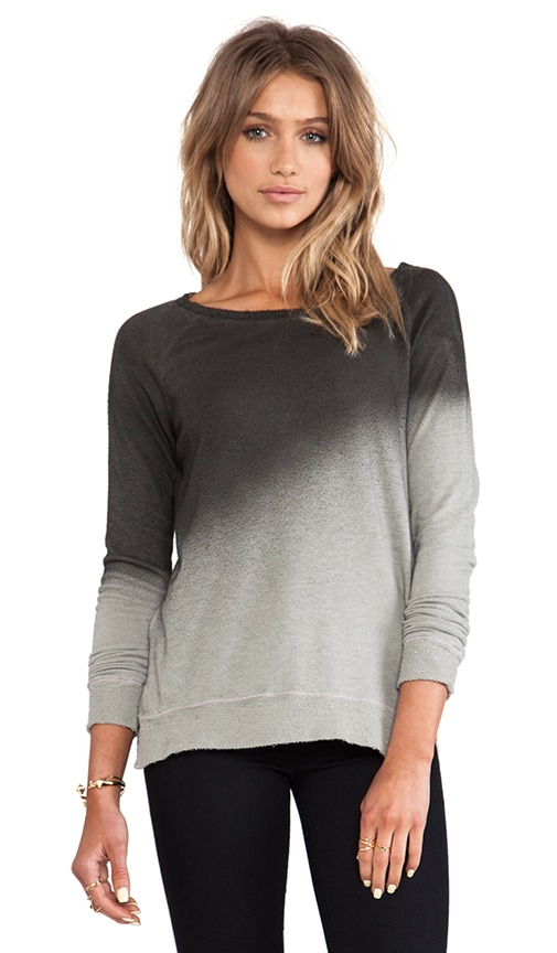 Penny Dolman Ombre Print Off the Shoulder Pullover