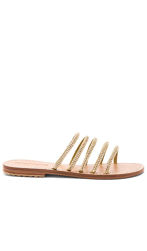 Mystique Strap Sandal in Metallic Gold