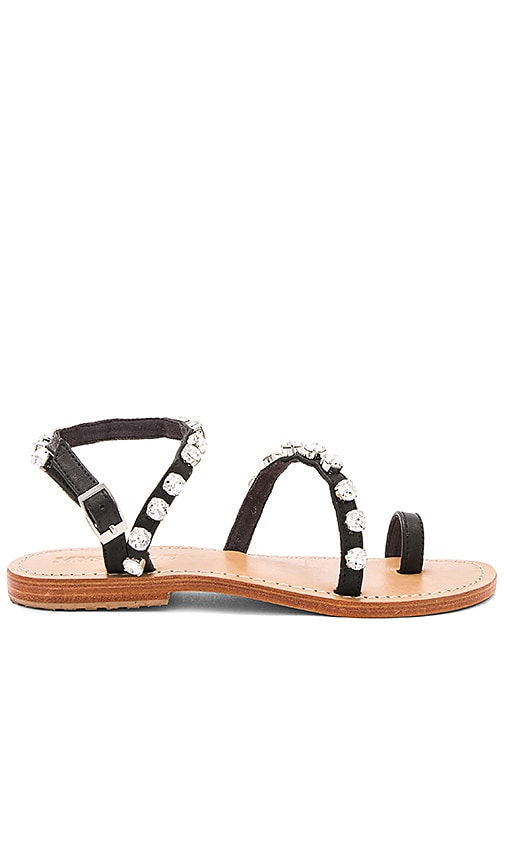 Mystique Flat Sandal in Black