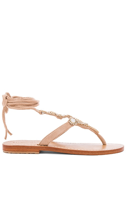Mystique Shell Sandals in Beige