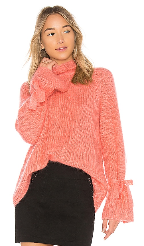 NAADAM Turtleneck Oversized Sweater in Pink