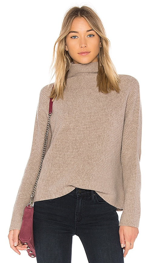 NAADAM Funnel Neck Cashmere Pullover in Tan