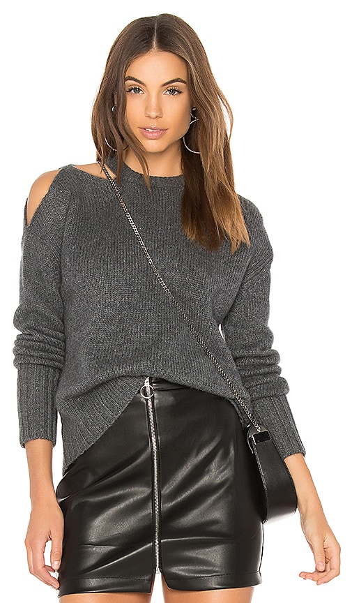 NAADAM Cut Out Cashmere Pullover in Charcoal