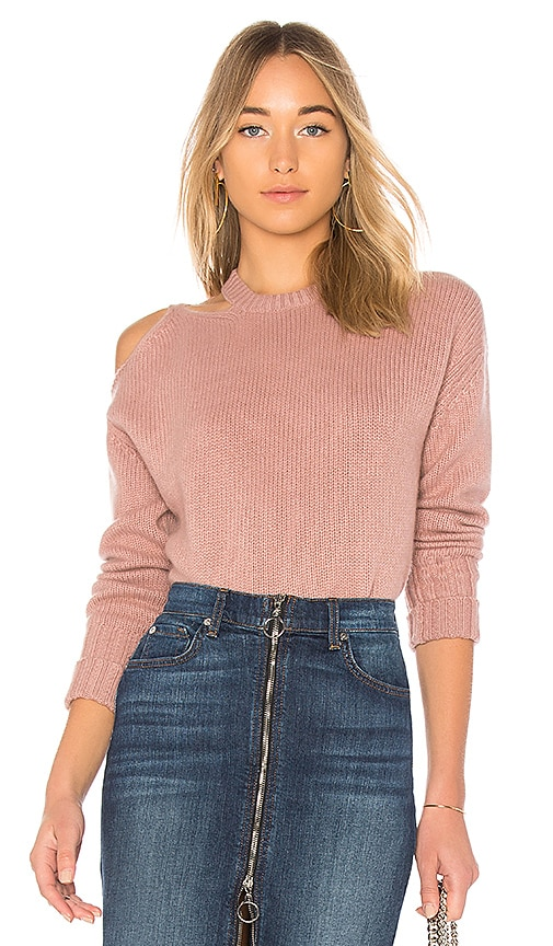 NAADAM Cut Out Cashmere Pullover in Mauve