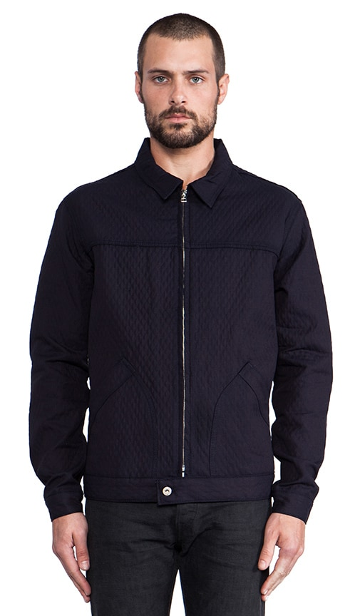 Zip Jacket Quilted Doubleface Denim