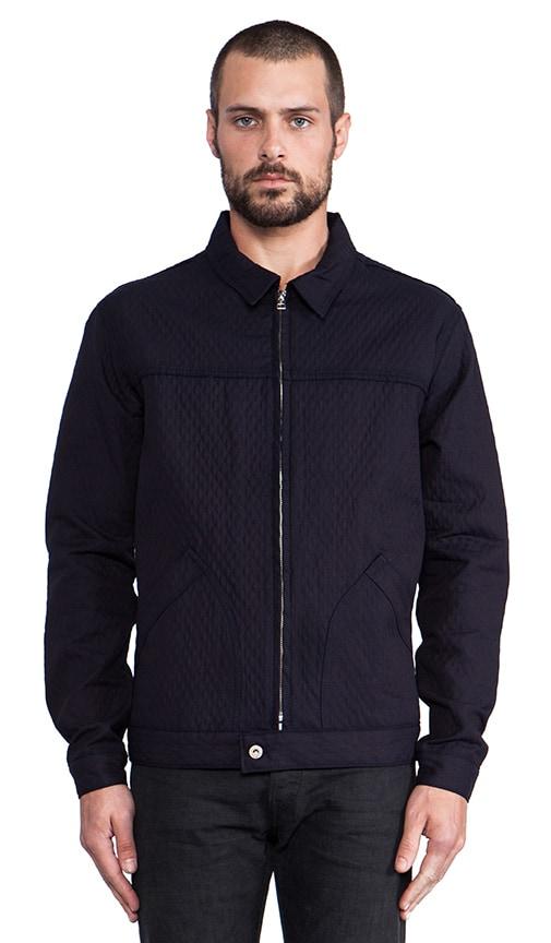 Zip Jacket Quilted Doubleface Denim