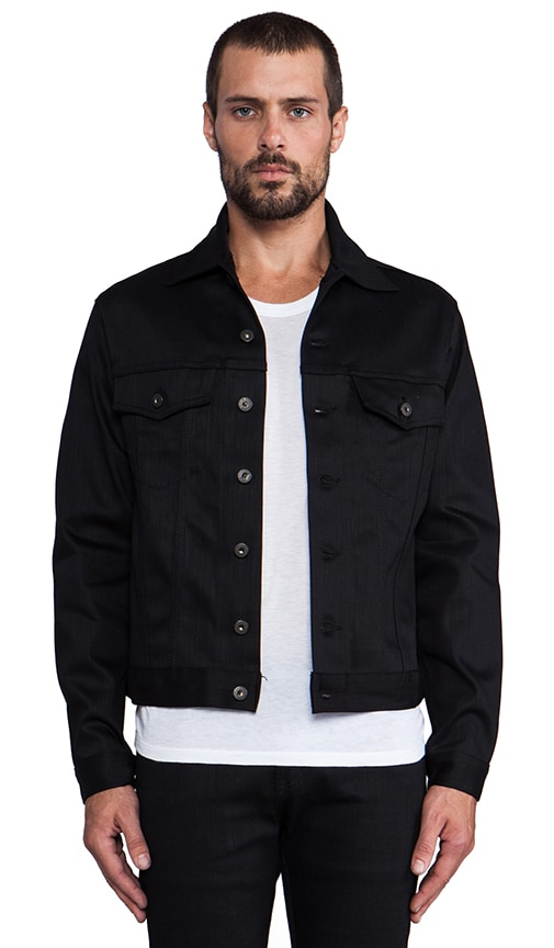 Denim Jacket Black Power Stretch