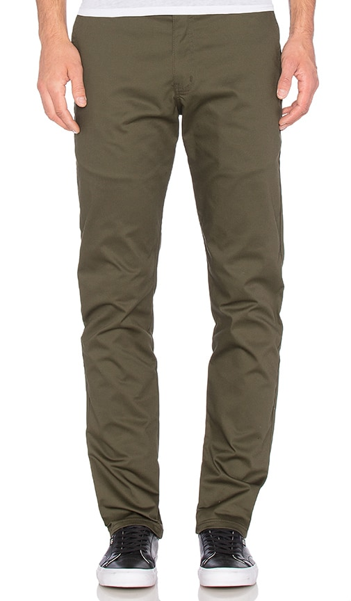 Naked & Famous Denim Slim Chino Stretch Twill in Army