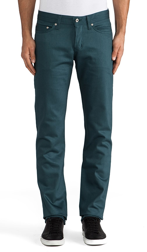 Weird Guy Petrol Selvedge Chino 12 oz.