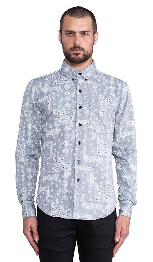 Slim Shirt Paisley Jacquard