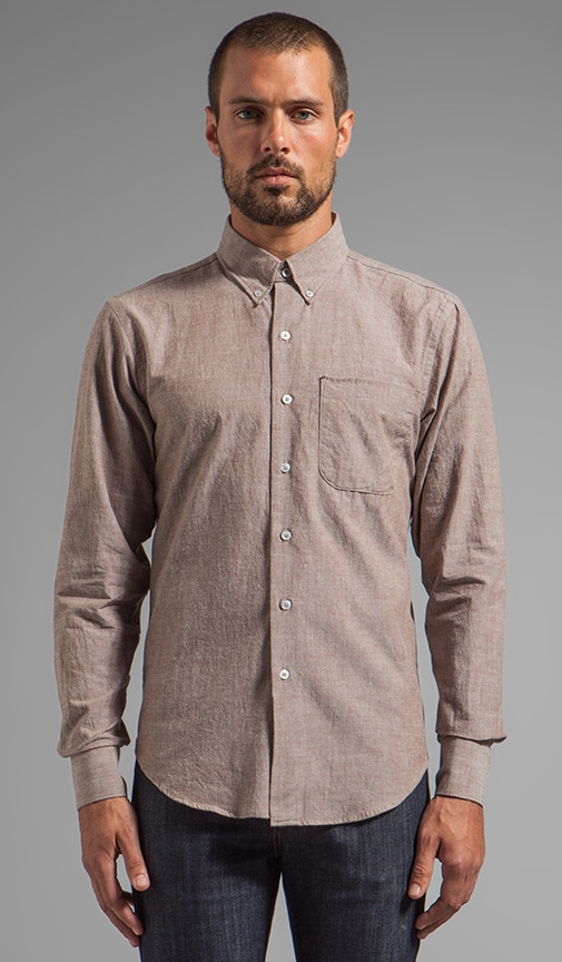 Regular Shirt Brown Chambray