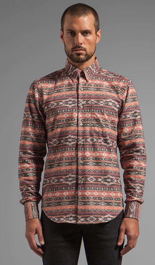 Regular Shirt Brushed Native Brown