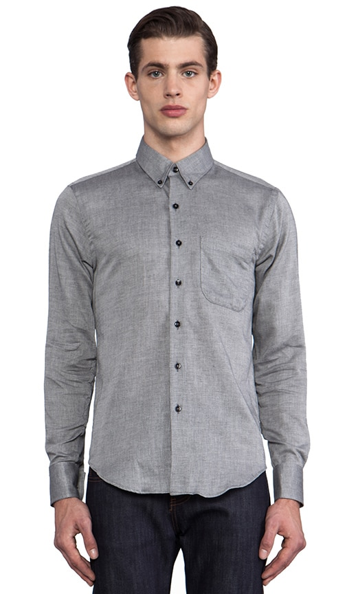 Regular Shirt Pale Grey Air Twill